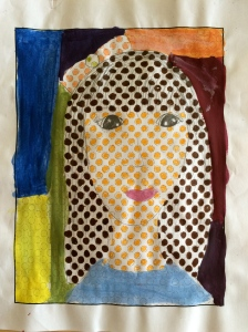 Pop Art Self Portrait www.artroomadventures.com