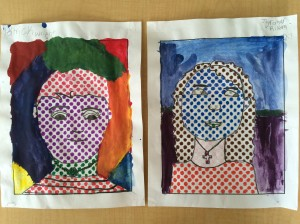 Pop Art Self Portraits artroomadventures.com